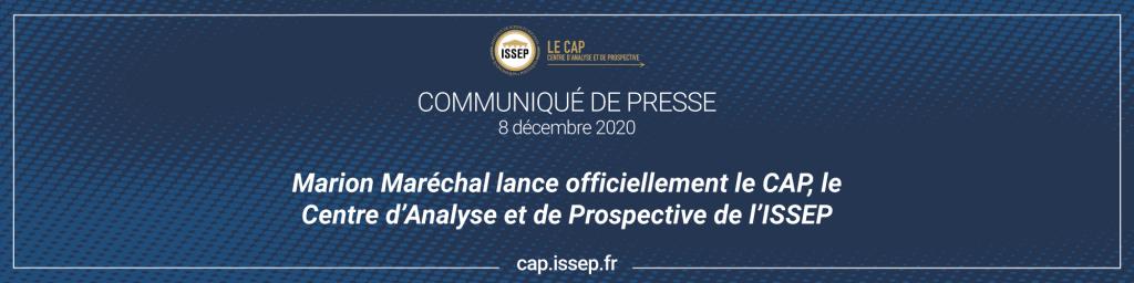 Marion Maréchal lance officiellement le CAP - communiqué de presse