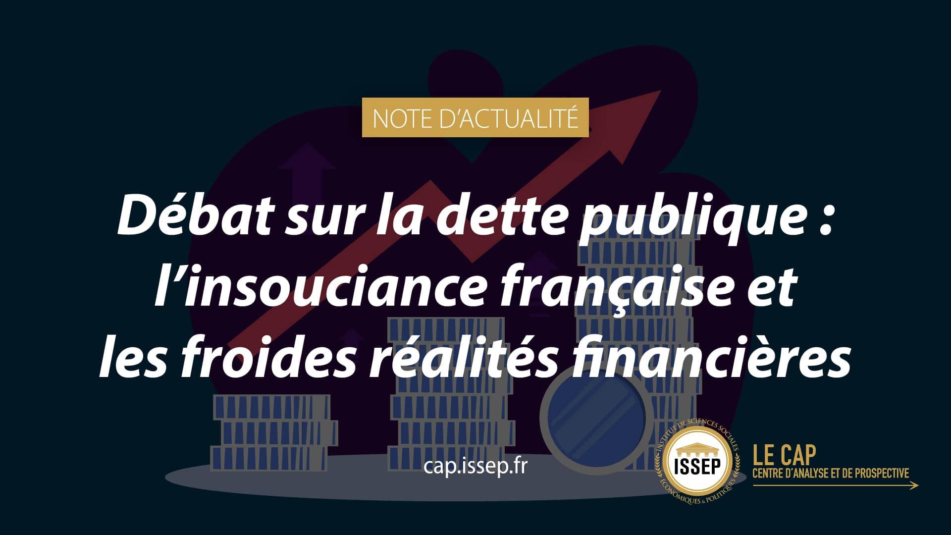 Note d'actualité du CAP de l'ISSEP - Dette publique