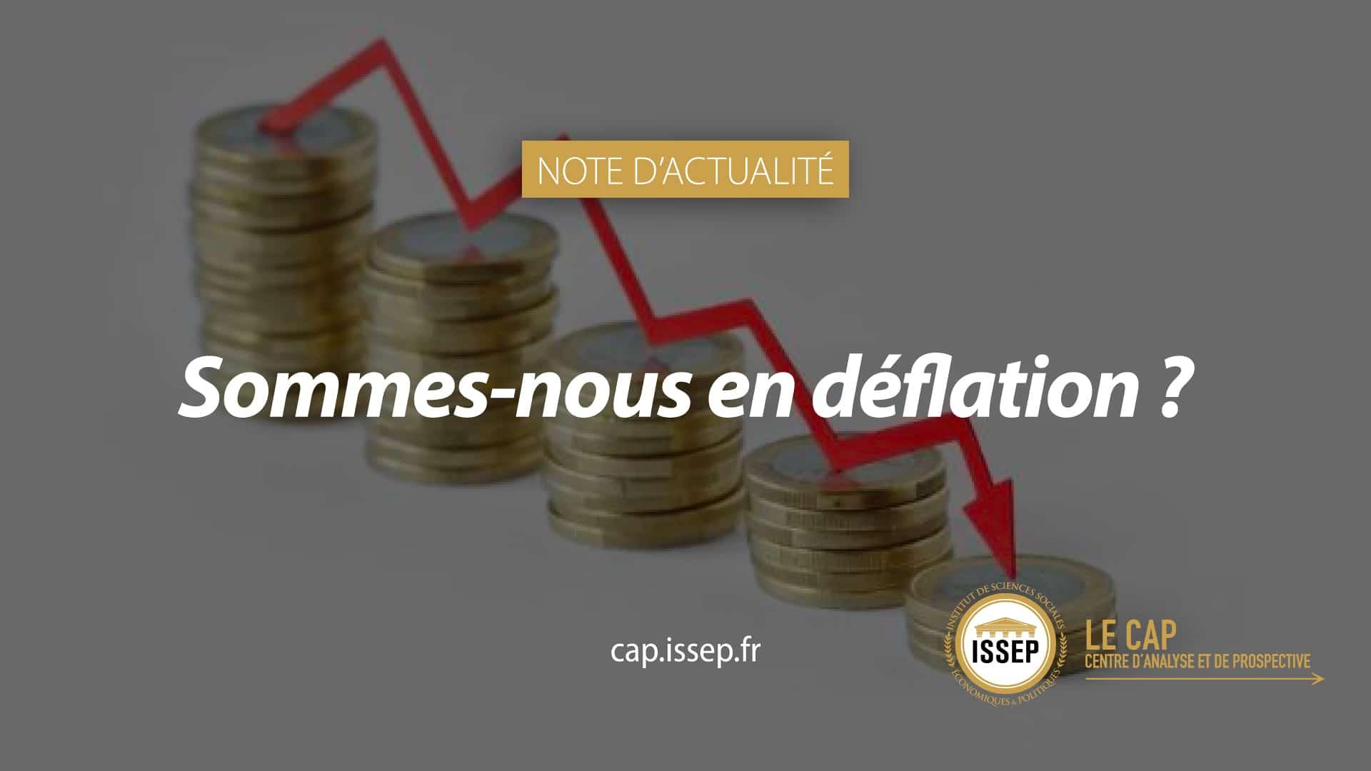 Note d'actualité du CAP - Sommes-nous en déflation ?