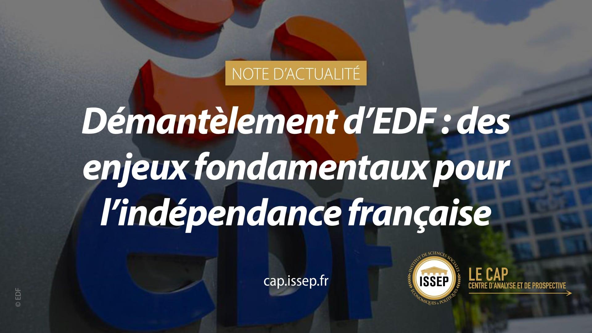 Note 'actualité du CAP de l'ISSEP - Démantèlement d'EDF