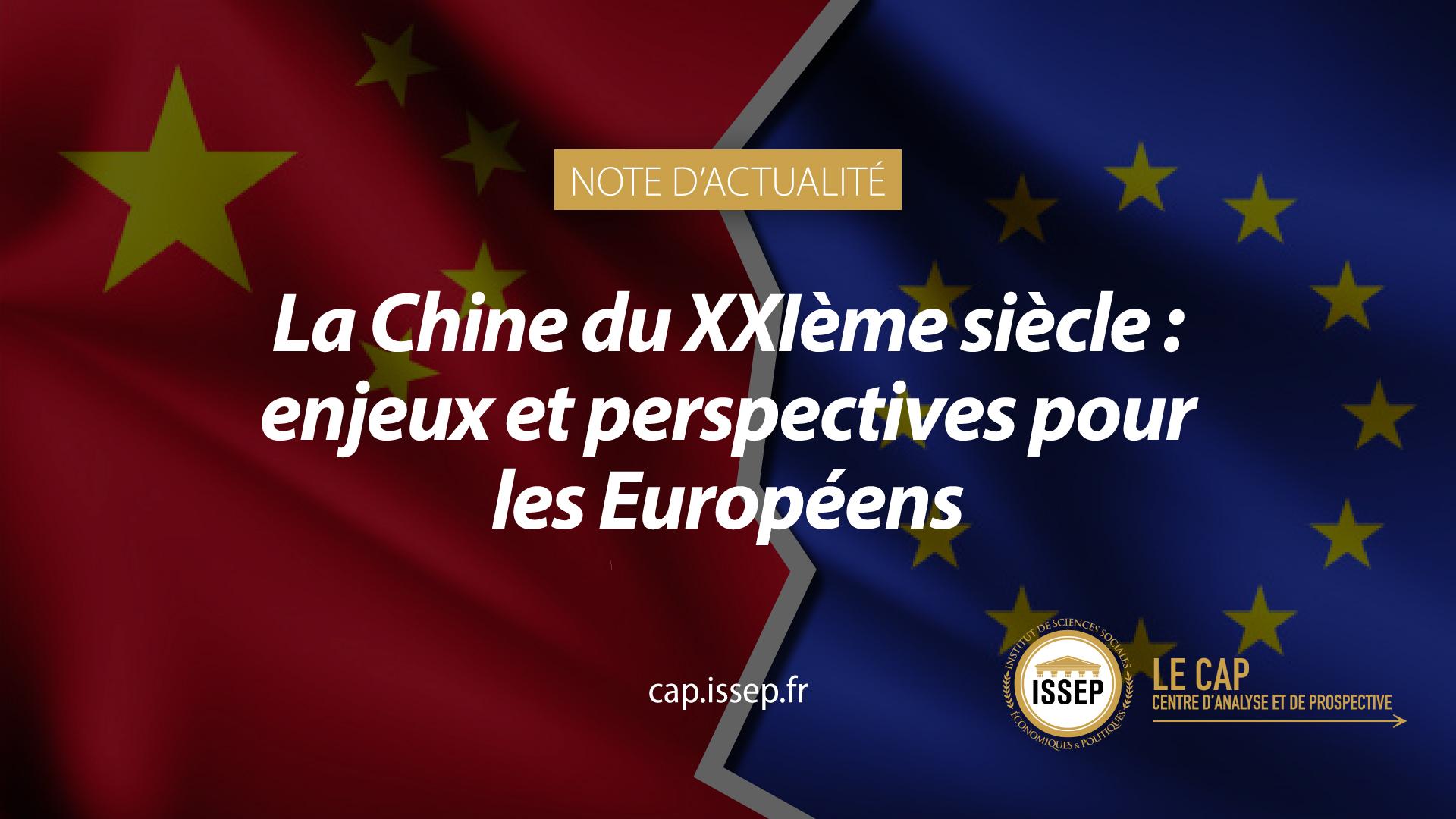 Note d'actualité du CAP de l'ISSEP - Relations Chine - Europe