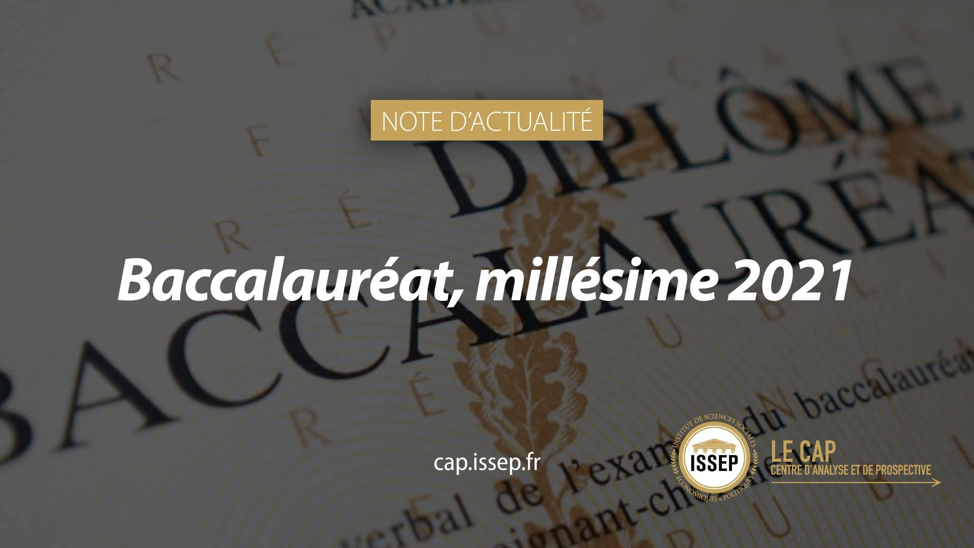 NOTE D'ACTUALITÉ CAP ISSEP - BACCALAURÉAT
